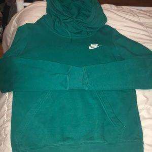 Forest green Nike hoodie